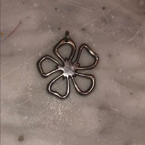 Tiffany Sterling Silver Flower Necklace Charm